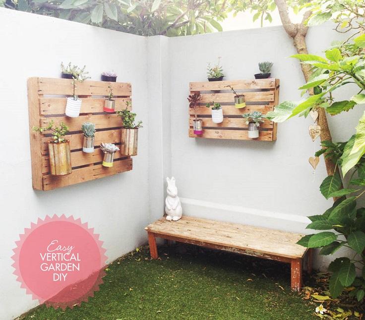 Ιδέες DIY Κάθετου κήπου5