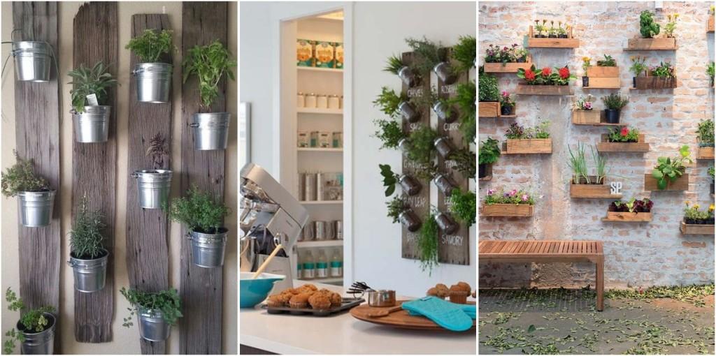 ιδέες διακόσμησης κάθετων ραφιών με φυτά