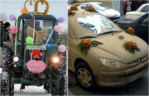 πρωτότυποι τρόποι για να πάει μια νύφη στο γάμο