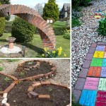 DIY ιδέες κήπου ή αυλής από τούβλα