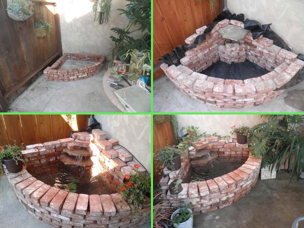 DIY ιδέες κήπου ή αυλής από τούβλα3