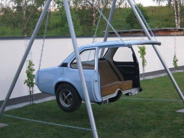 ανακύκλωση παλιών αυτοκινήτων ιδέες8