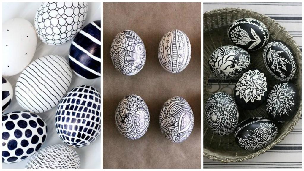 Ασπρόμαυρα Πασχαλινά αυγά