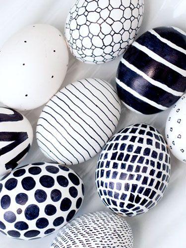 Ασπρόμαυρα Πασχαλινά αυγά1