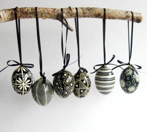 Ασπρόμαυρα Πασχαλινά αυγά11