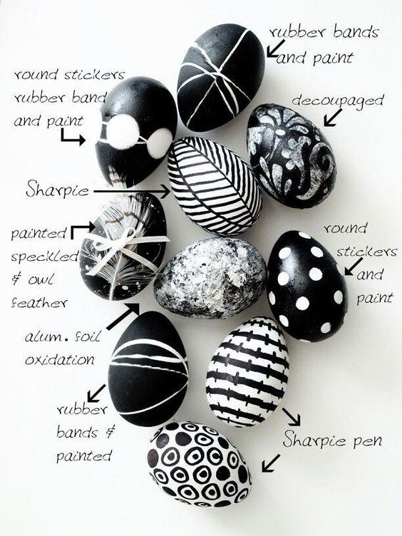 Ασπρόμαυρα Πασχαλινά αυγά12