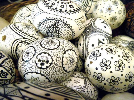 Ασπρόμαυρα Πασχαλινά αυγά13
