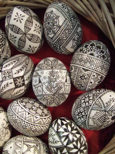 Ασπρόμαυρα Πασχαλινά αυγά17