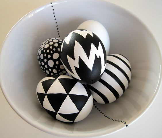 Ασπρόμαυρα Πασχαλινά αυγά19