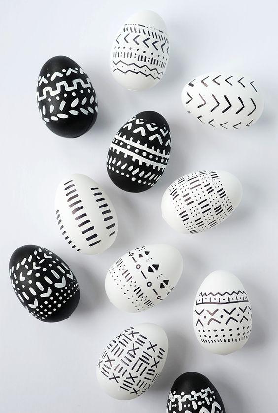 Ασπρόμαυρα Πασχαλινά αυγά4