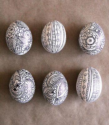 Ασπρόμαυρα Πασχαλινά αυγά5
