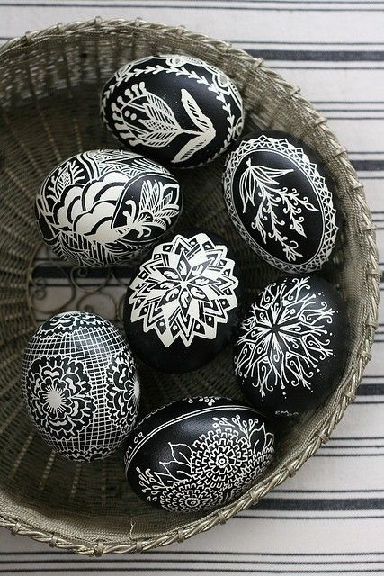 Ασπρόμαυρα Πασχαλινά αυγά8