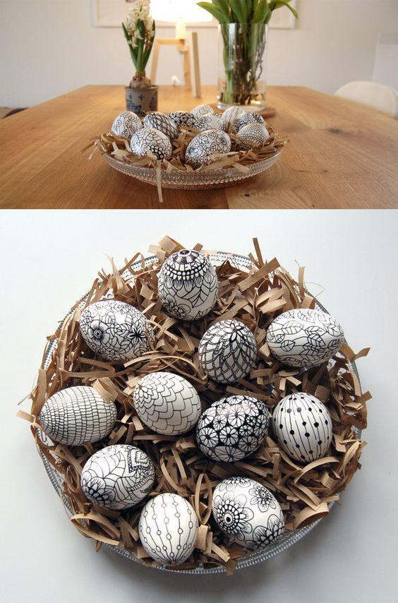 Ασπρόμαυρα Πασχαλινά αυγά9