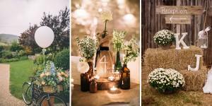 Ρουστίκ ιδέες διακόσμησης γάμου