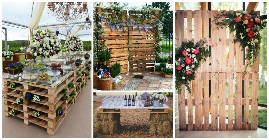 DIY ρουστίκ decor γάμου από παλέτες