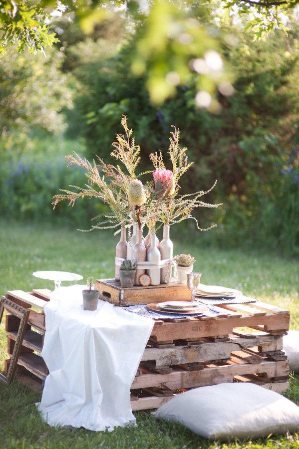 DIY ρουστίκ decor γάμου από παλέτες10