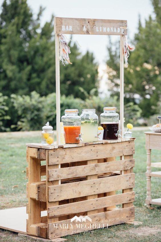 DIY ρουστίκ decor γάμου από παλέτες4