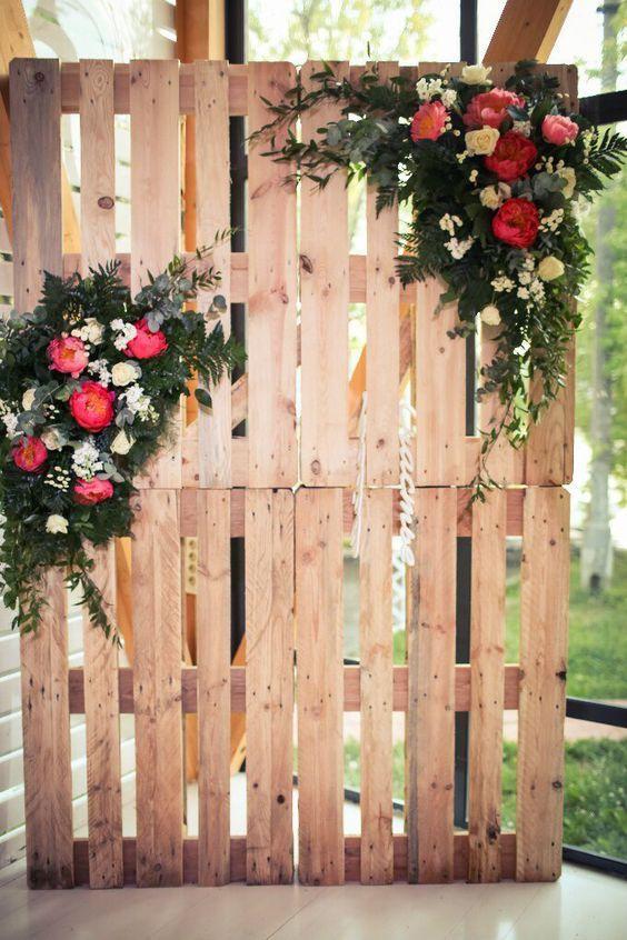 DIY ρουστίκ decor γάμου από παλέτες5