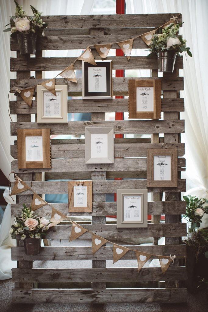 DIY ρουστίκ decor γάμου από παλέτες6