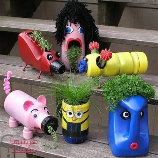 diy ιδέες με πλαστικά μπουκάλια4