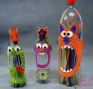 diy ιδέες με πλαστικά μπουκάλια5
