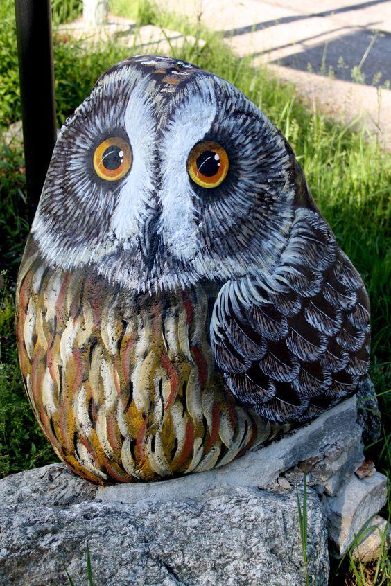 διακόσμηση κήπου με ζωγραφισμένες πέτρες15