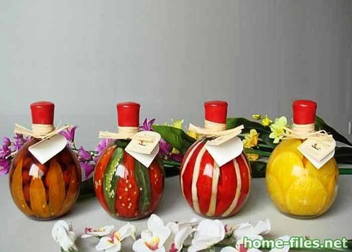 διακόσμηση, από λαχανικά, δημητριακά και Χρωματισμένο αλάτι2