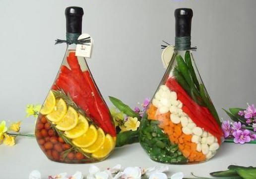 διακόσμηση, από λαχανικά, δημητριακά και Χρωματισμένο αλάτι3