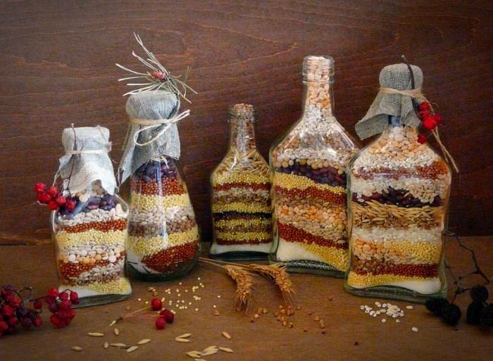διακόσμηση, από λαχανικά, δημητριακά και Χρωματισμένο αλάτι9