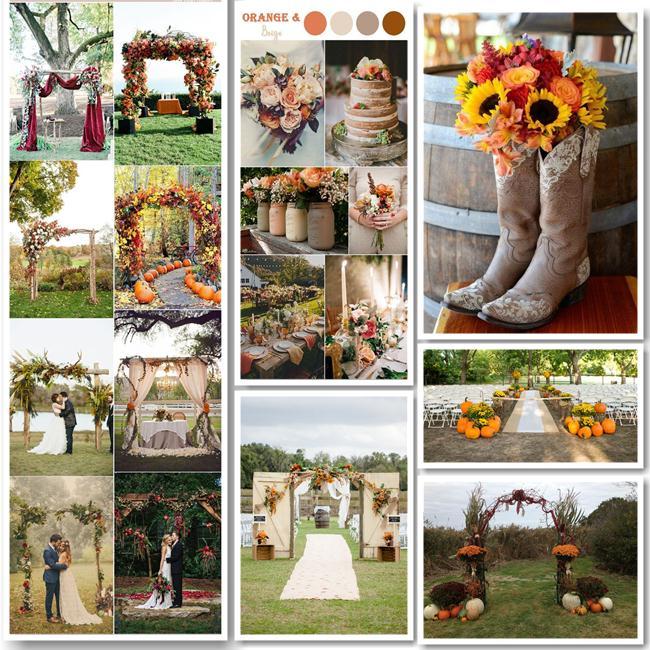 Φθινοπωρινός γάμος ιδέες