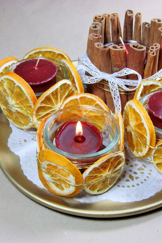Αρωματική διακόσμηση με μανταρίνια και πορτοκάλια12