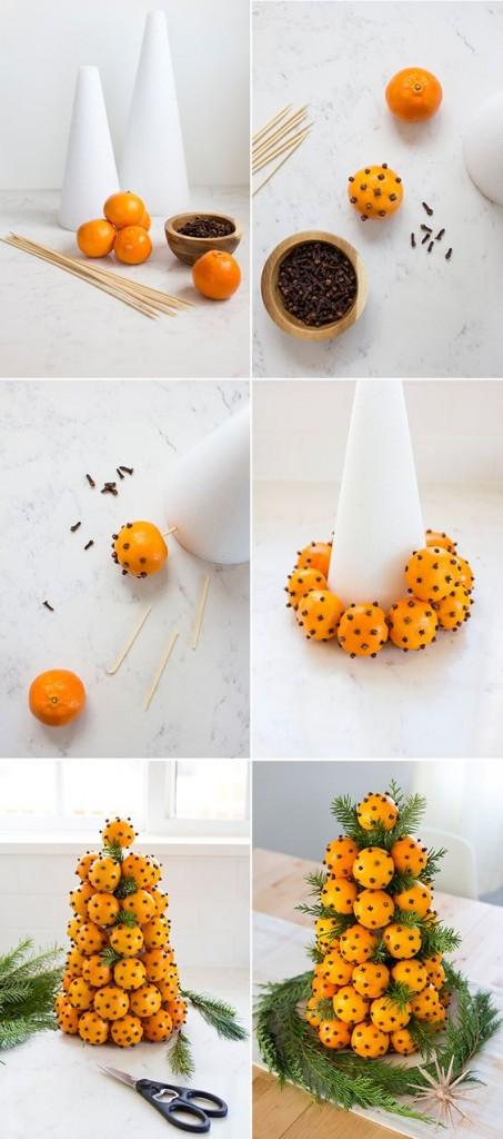 Αρωματική διακόσμηση με μανταρίνια και πορτοκάλια4