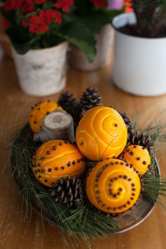 Αρωματική διακόσμηση με μανταρίνια και πορτοκάλια6