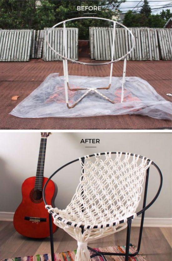 DIY καρέκλες αιώρες μακραμέ3