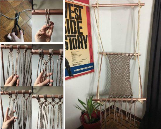 DIY καρέκλες αιώρες μακραμέ5