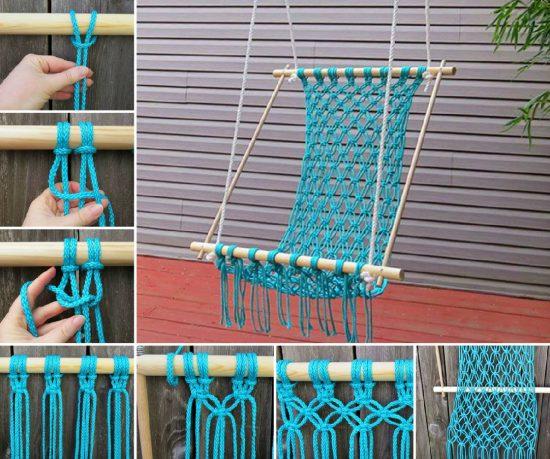 DIY καρέκλες αιώρες μακραμέ6