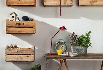 Οργανώστε με ανακυκλωμένα κιβώτια: 22 πρωτότυπες ιδέες απόθήκευσης