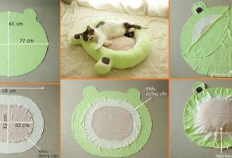 Φτιάξτε ένα μαλακό κρεβάτι για την γάτα σας