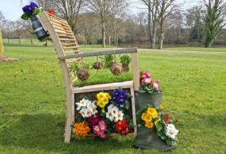 """12 Εμπνευσμένες ιδέες για το πώς να ανακυκλώσετε παλιά """"σκουπίδια"""" σε όμορφη διακόσμηση κήπου"""