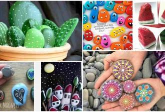 10 πρωτότυπες ιδέες τέχνης με πέτρες και βότσαλα