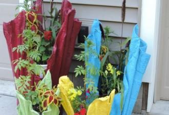 Απίθανη τσιμεντένια γλάστρα από μια παλιά πετσέτα (βιντεο)