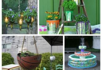 Μην βιαστείτε να τα πετάξετε - Diy έργα για τον κήπο από τα παλιά πράγματα