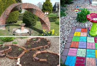DIY ιδέες για τη δημιουργία ενός δροσερού κήπου ή αυλής από τούβλα