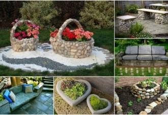 Όμορφες πέτρινες διακοσμήσεις κήπου που θα σας μαγέψουν
