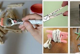 30 Διασκεδαστικές DIY ιδέες με μανταλάκια
