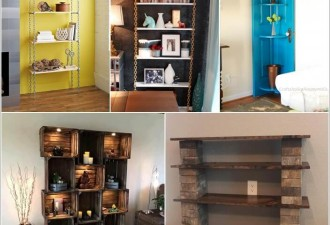 15 Απίθανες DIY Ιδέες ραφιών εμφάνισης για το σαλόνι σας