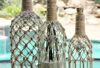 Μακραμέ: κομψό εσωτερικό με ένα συνηθισμένο σχοινί