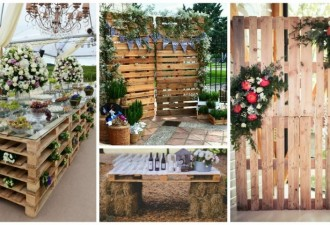 DIY ρουστίκ decor από παλέτες για τον ανοιξιάτικο γάμο σας