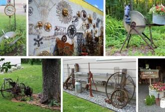15 Εκπληκτικότερες ιδέες  διακόσμησης για τον κήπο με αντίκες