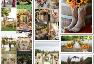 Φθινοπωρινός γάμος: Διακόσμηση σε χρώματα πορφυρό και χρυσό